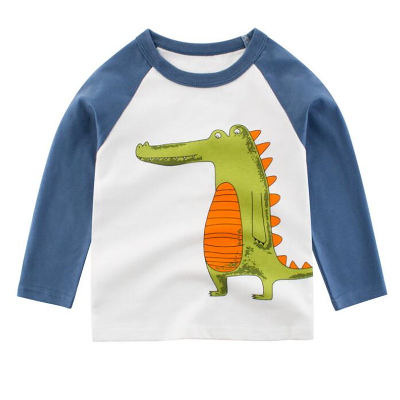Baby T-Shirt Clothing Tops Long-Sleeve Autumn Kids Cotton Casual Cartoon Fashion Boys