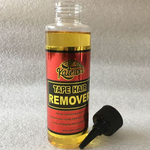 4 Oz 118 ml yellow liquid remover for lace wig glue remover for adhesive tape 4