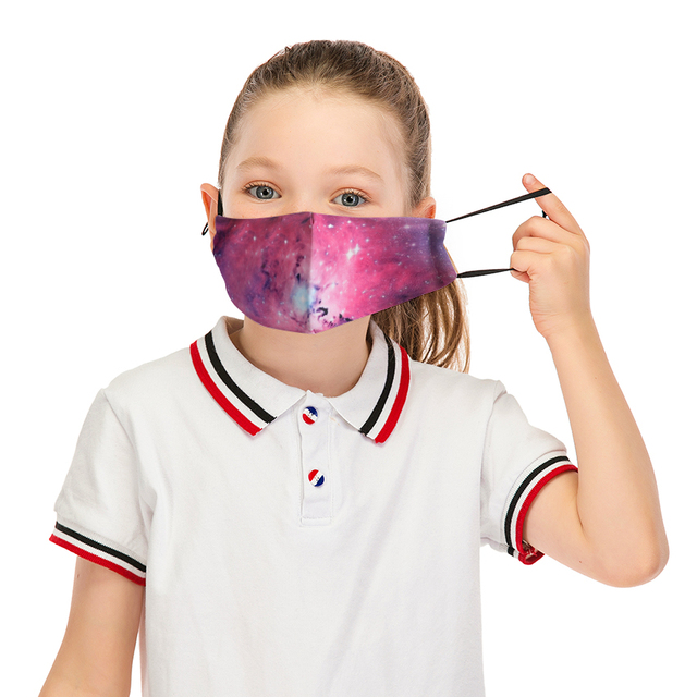 Galxy Reusable Facemask Washable Children Mask Stylish Face Mask With Filter Mask Adjustable Straps Cotton Mask Cute Flu Masks 1