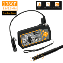 WDLUCKY Endoscope Camera 4.3  inch industrial handheld borescope 3.9 5.5 MM HD 1080P dual lens inspection snake Car tool camera