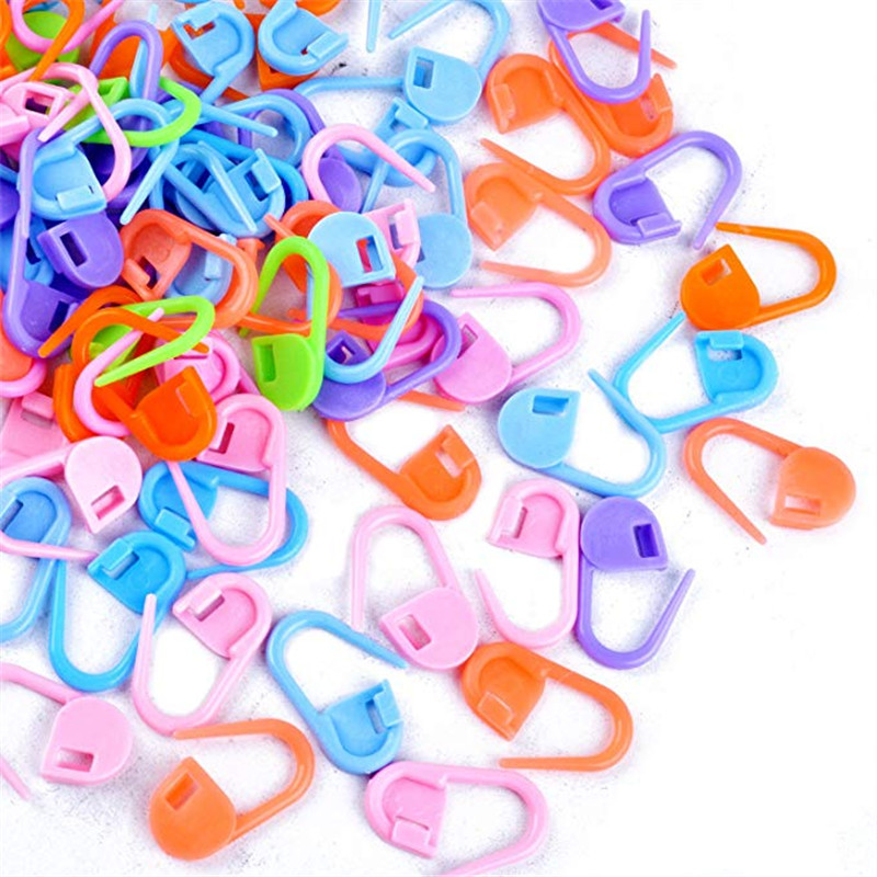 50-500pcs Mix Color Plastic Resin Small Clip Locking Stitch Markers Crochet Latch Knitting Tools Needle Clip Hook Sewing Tool