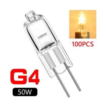100PCS/LOT halogen G4 12V 5W 10W 20W 35W 50W bulb lamp beads 12v g4 5w bead 20w 30w high quality