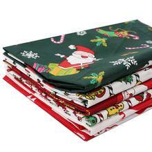 Cheer луки 40*50 см 1 шт 100% хлопок Рождественская ткань Санта
