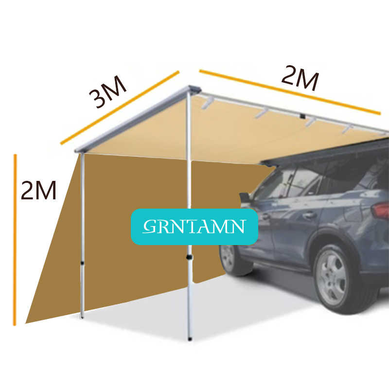 grntamn galerie de toit 4x4 auvent avec extension de paroi laterale 6 5 gratuite pour voiture suv camion kaki
