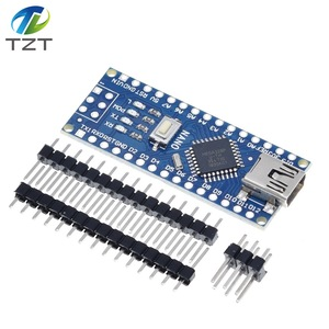Image 1 - 10PCS Promotion Funduino Nano 3.0 Atmega328 Controller Compatible Board for Arduino Module PCB Development Board NANO V3.0