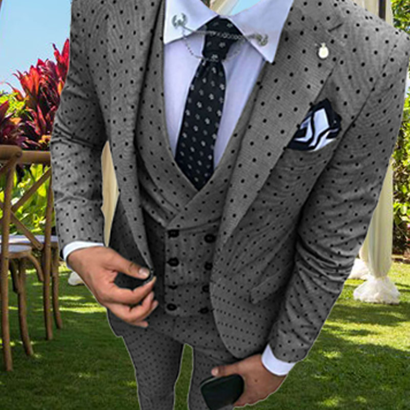 Suits Mens Suit Slim Fit Tuxedos 3 Pieces Party Blazer Prom Leisure Suit Jacket Blazer & Pants & Vest For Wedding