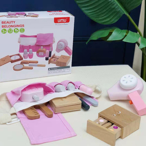 Набор для макияжа для девочек, игрушка, деревянный для косметики, игрушка для малышей, ролевые игры, симуляция красоты, модная игрушка для де...