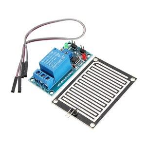 Módulo do relé do sensor da chuva do módulo do controlador das gotas de chuva 12 v para arduino foliar umidade m35 monitor tempo dc 12 v relés módulo