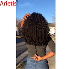 Full-Head-Clips Human-Hair-Extension Kinky-Curly Arietis Store for White Women 8pieces/Set
