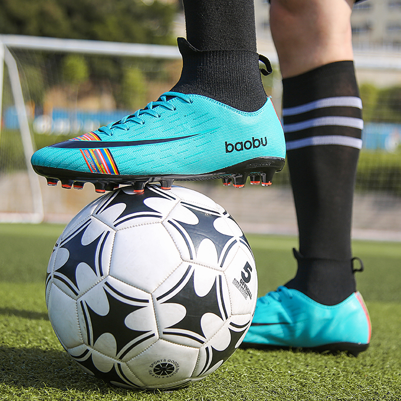 NEW 2019 Turf Indoor Men Women Soccer Shoes Kids Futsal Cleats Hard Court Training TF Football Boots Sport Sneakers Size 35 46|Soccer Shoes| |  - title=