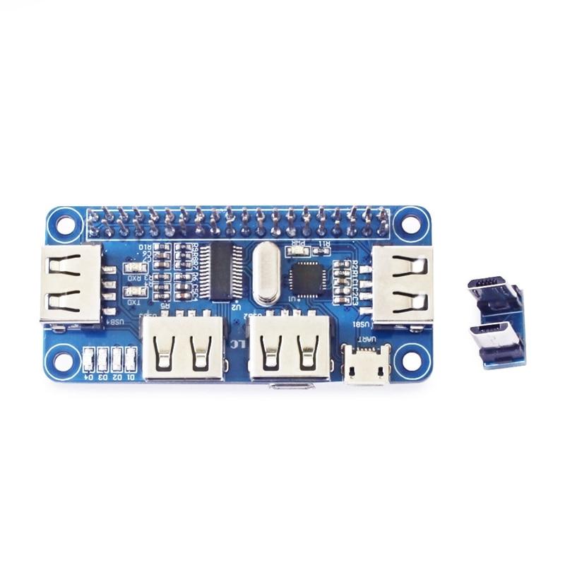 4 Port Debugging Professional USB Hub To UART Integrated Universal For Raspberry Zero/Zero W/3B+