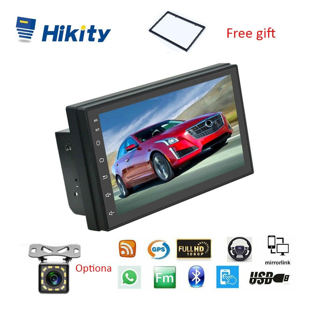 "Hikity 2 Din Car Radio Android 9.1 GPS Car Multimedia Player 7"" 2.5D Audio Navigation For Volkswagen Nissan Hyundai Kia Toyota Car Multimedia Player    - AliExpress"