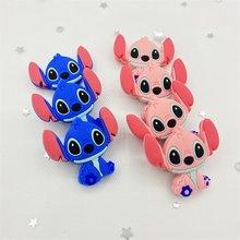 5 pçs silicone grânulo dentição dos desenhos animados shi dizi grânulo animal crianças diy chupeta clipe bebê recém-nascido mordedor