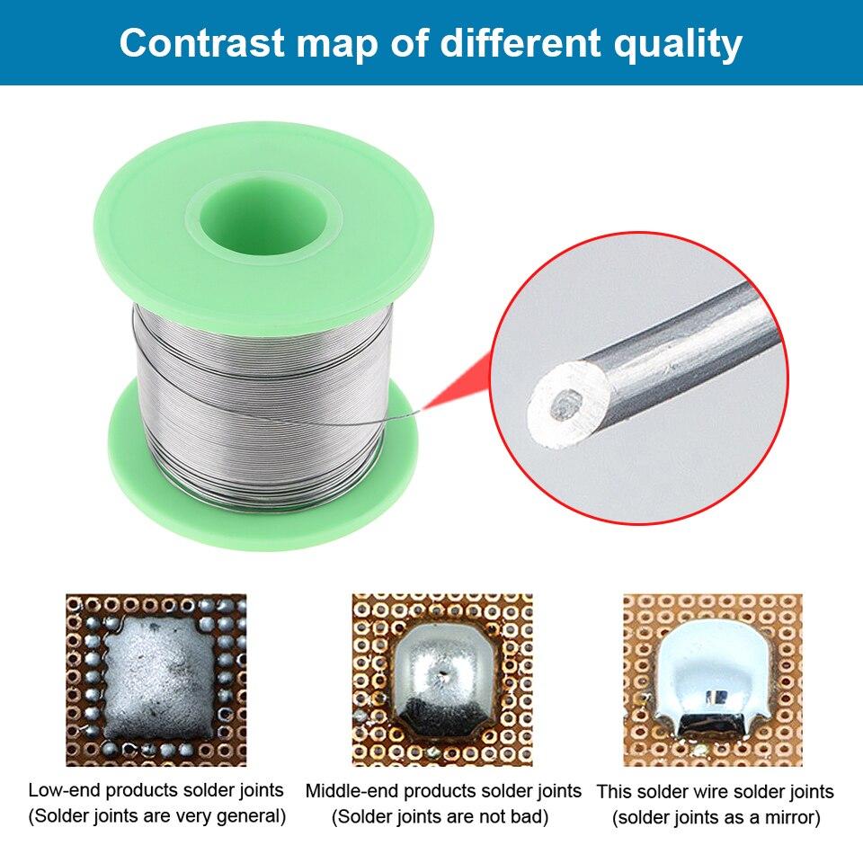Купить с кэшбэком 0.3/0.4/0.5/0.6/0.8/1.0/1.2/1.5/2.0mm 250g 60/40 FLUX 2.0% Tin Lead Tin Wire Melt Rosin Core Solder Soldering Wire Roll