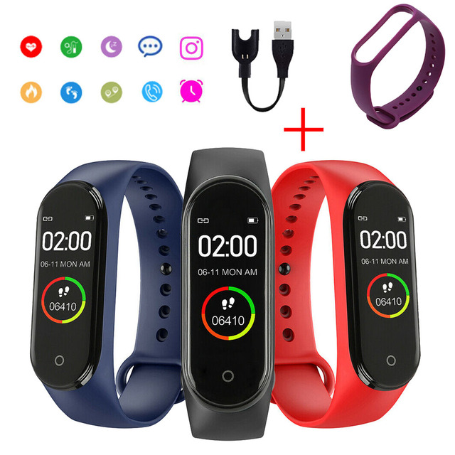 Color Screen Men's Electronic Watch Heart Rate Monitor Message Call Reminder Clock Pedometer Bluetooth Wearable Device Women