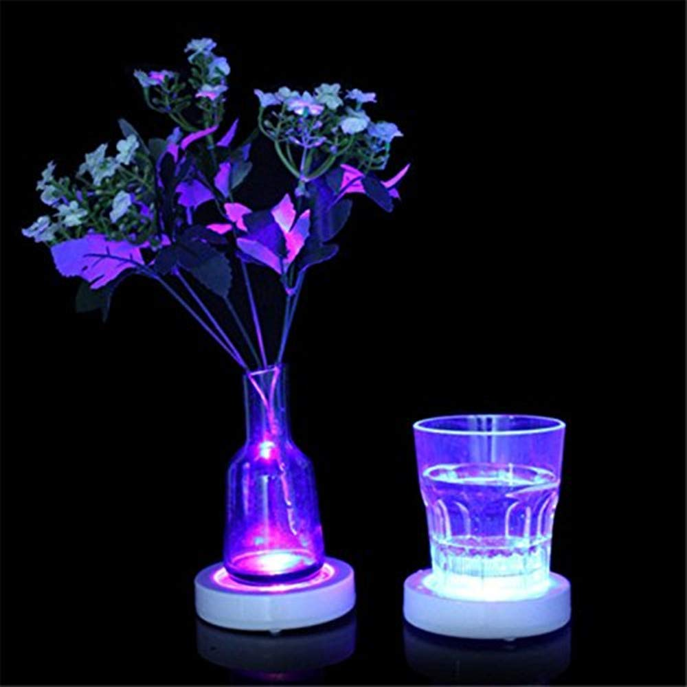 LED Drink Bottle Coaster Luminous Wine Champagne Cocktail Glass Flash Cup Mat Placemat Holder For Party Club Bars Vase Wedding