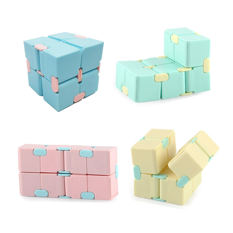 Fidget Toys Fingertips Decompression Puzzle Cube Square Anti Stress Toy Magic Infinity Cube Sensory Toys Children Adults 1PCS