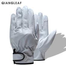 Бренд QIANGLEAF,, лидер продаж, защитные мужские рабочие перчатки, d-класс, тонкие кожаные защитные перчатки для работы на открытом воздухе, 527