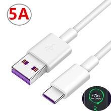Original pour Samsung A51 A50 Type C câble 25W 5A chargeur de charge Super rapide câble USB pour Samsung S20 Ultra S9 S8 S20 + A71 A91