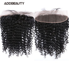 Deep Wave 4x4 5x5 Transparent Lace Closure Brazilian Human Remy Hair 13x4 Lace Frontal Natural Color Pre-plucked Hairline 130%