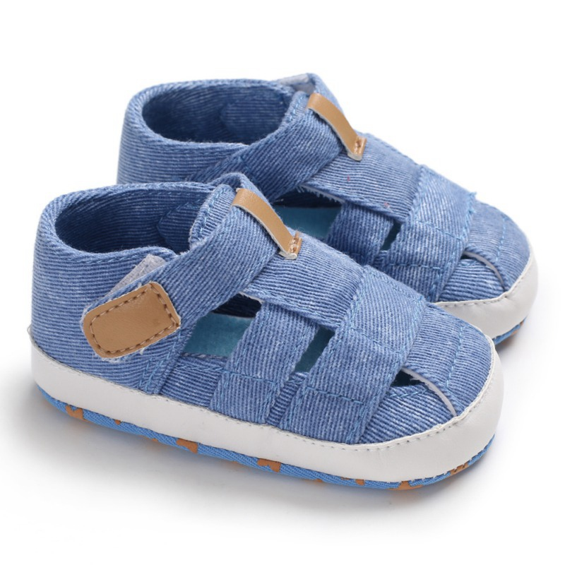 Summer Baby Boy Shoes Infant Soft Crib Shoes Newborn Boy Shoes Casual Cotton Soft Sole First Walker 0-18 Month