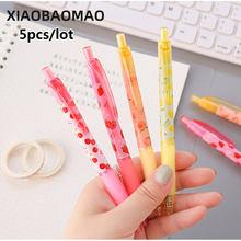 5 шт 05 мм милые фруктовая гелевая ручка для письма офисные