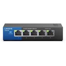 Linksys lgs105 5 портовый бизнес Настольный гигабитный коммутатор