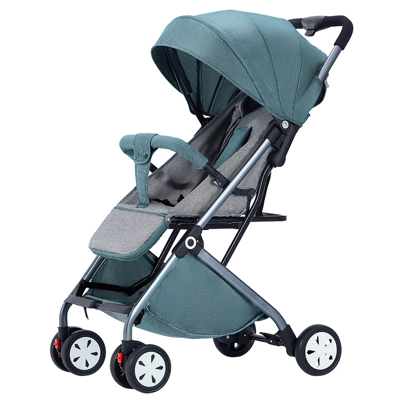 Light Baby Cart Can Sit and Lie Down Children's Trolley Folding High Landscape Umbrella Car