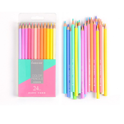 Marco 12/24Colors Hexagon shape Soft Pastel Colors Pencils Non-toxic lapis de cor Artist Painting Colored Pencils for School