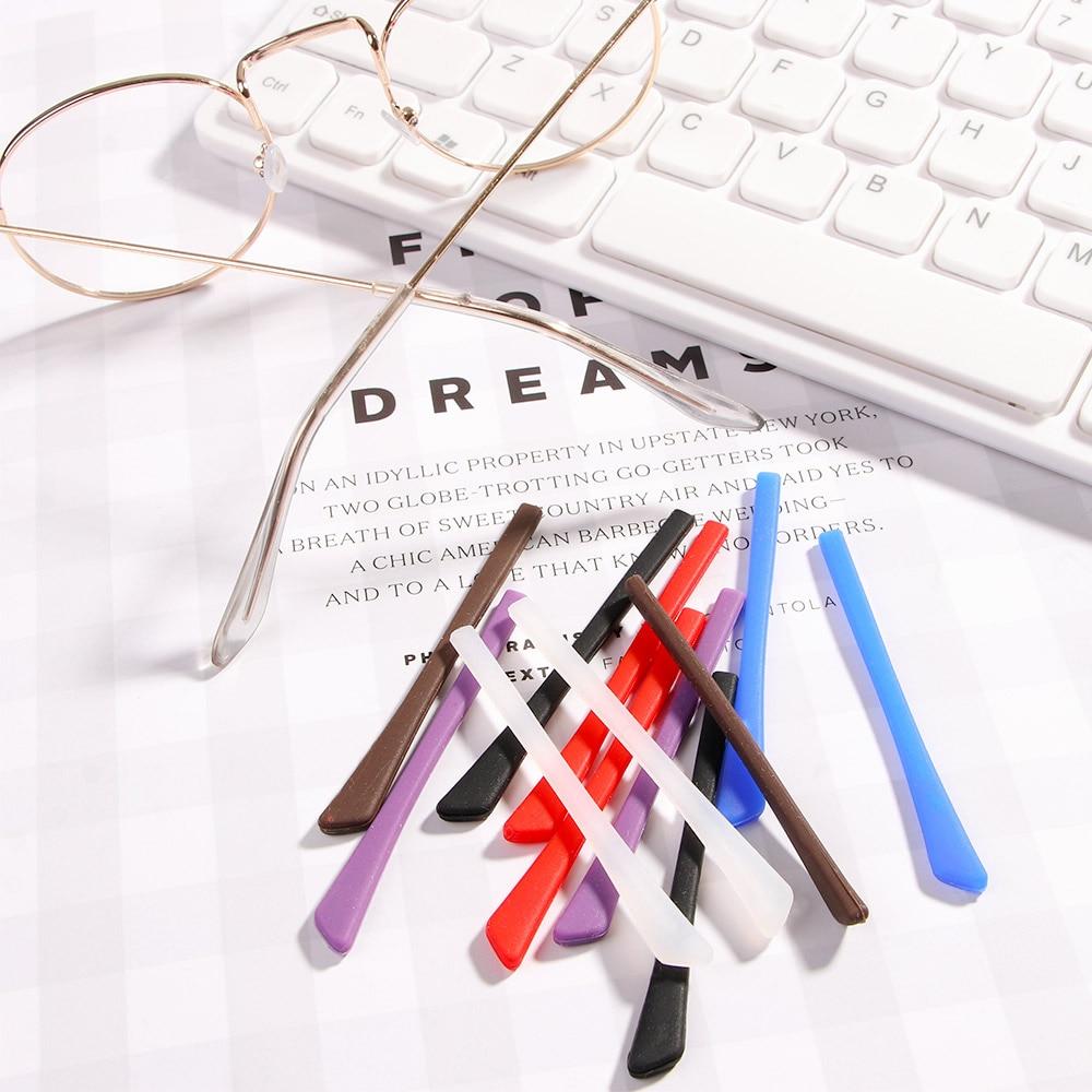 Silicone Eyeglasses Foot Cover Glasses Non-slip Cover Soft Sunglasses Accessories Myopia Frame Leg Cover Sports Temple Tips