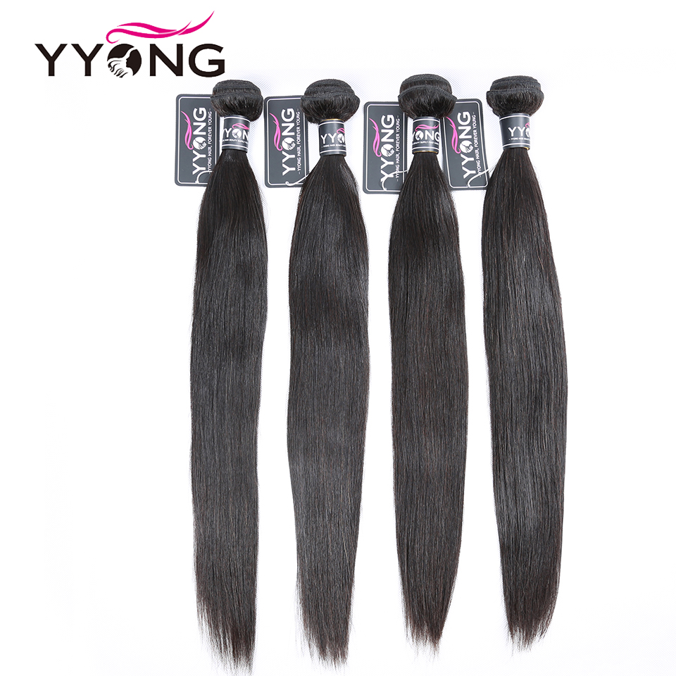 Yyong Hair Bundles  Straight 4 Bundles Deal 100%  s Bundles  Hair  tissage bresillien 1