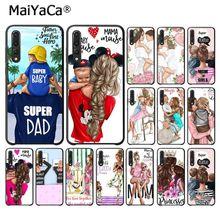 MaiYaCa hermosa madre encantadora hija hijo teléfono funda para Huawei P10 plus 20 pro P20 lite mate9 10 lite honor 10 view10 cubierta