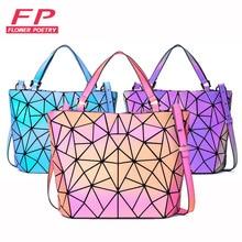 Bags Designer Tote Holographic-Bag Geometric Luminous-Handbags Women Ladies Messenger-Bag