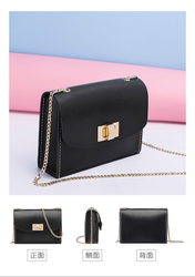 Hand-made original self-made small bag womens real leather oblique slung single shoulder 100 han version of ins xiaoqing