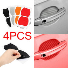 4Pcs/Set Car Door Sticker Scratches Resistant Cover Auto Handle Protection Film Exterior Accessory(China)