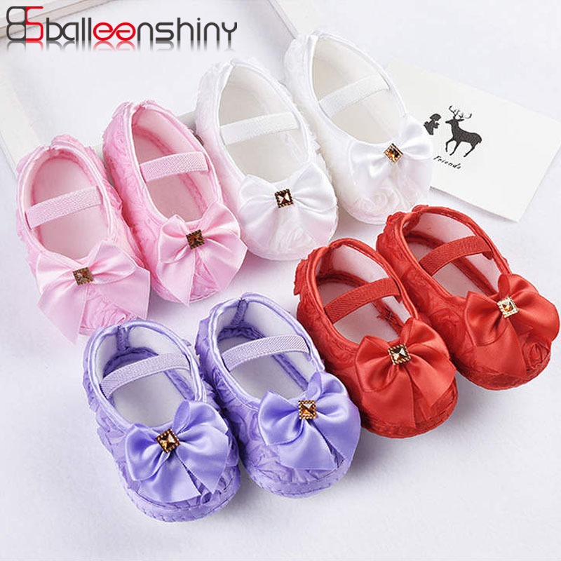 Balleenshiny 2020 New Fashion Baby Girl Summer Shoes Big Bow Princess First Walker Newborn Kids Floor Non-slip Socks