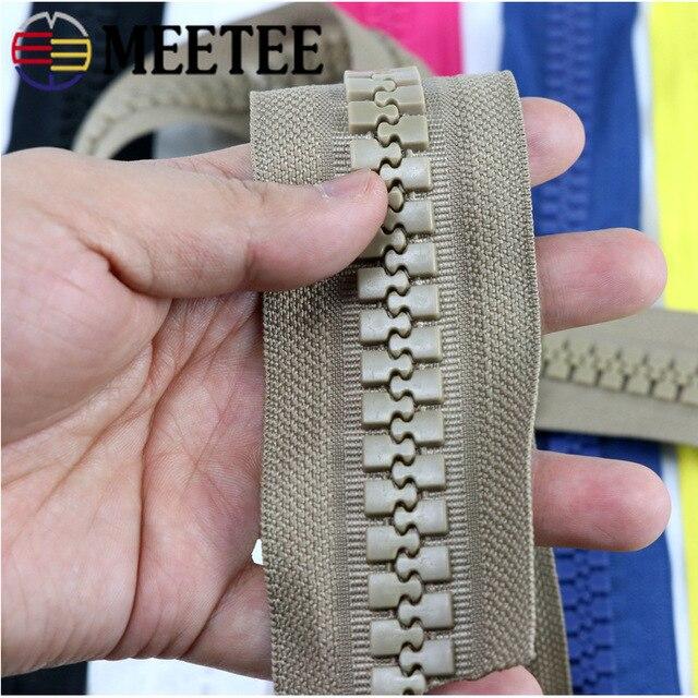 Meetee 1/2Meter 15#/20# Große Harz Code Zipper für Unten Jacke Zelt Im Freien Nähen Zubehör DIY Kleid Zip handwerk ZA029