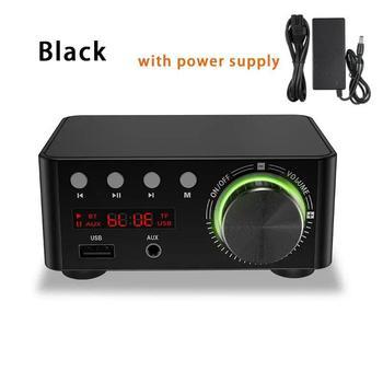 Douk Audio Mini TPA3116 wzmacniacz mocy Bluetooth 5 0 odbiornik Stereo domowy samochodowy sprzęt Audio Amp USB u-disk odtwarzacz muzyczny tanie i dobre opinie Adeeing