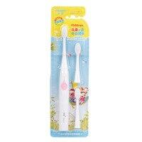 Crianças Bebê Criança Escova De Dentes Elétrica À Prova D' Água Crianças Escova de Dentes Macia Automática Temporizador Escova de Dentes Higiene Oral Care Kit Escovas de dente elétricas     -