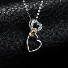 Three Hearts Choker Statement Pendant Necklace Jewelry
