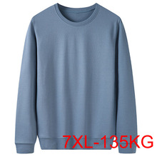 Jesień zima mężczyźni swetry 5XL 6XL 7XL biust 142cmPlus rozmiar człowiek 5 kolory tanie tanio Wiosna i jesień Na co dzień Daily CN (pochodzenie) Pełne inny spandex Stałe REGULAR Z okrągłym kołnierzykiem Bluzy z kapturem