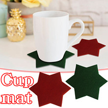 4PC Restaurant Home Insulation Non-slip Six-point Star Placemat Cup Mat Tablecloth Coaster Cup Pad Home Tools 10.5*10.5*1cm
