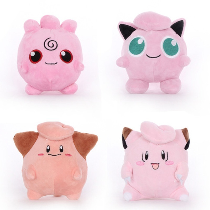takara-tomy-font-b-pokemon-b-font-pikachu-plush-toy-clefairy-cleffa-jigglypuff-pink-anime-doll-hobby-collectible-stuffed-for-kids