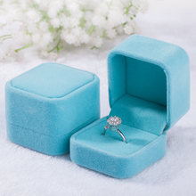 Square/Heart Shape Solid Color Velvet Jewelry Box Necklace Ring Earring Display Storage Organizer Luxury Gift Box Packaging Box(China)
