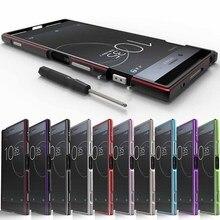 CELFONE יוקרה מתכת מקרה עבור Sony Xperia XZ פרימיום פגוש E5563 מקורי אלומיניום מסגרת XZP 5.5 Funda