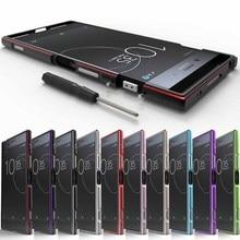 CELFONE boîtier en métal de luxe pour Sony Xperia XZ Premium pare chocs E5563 cadre en aluminium dorigine XZP 5.5 Funda