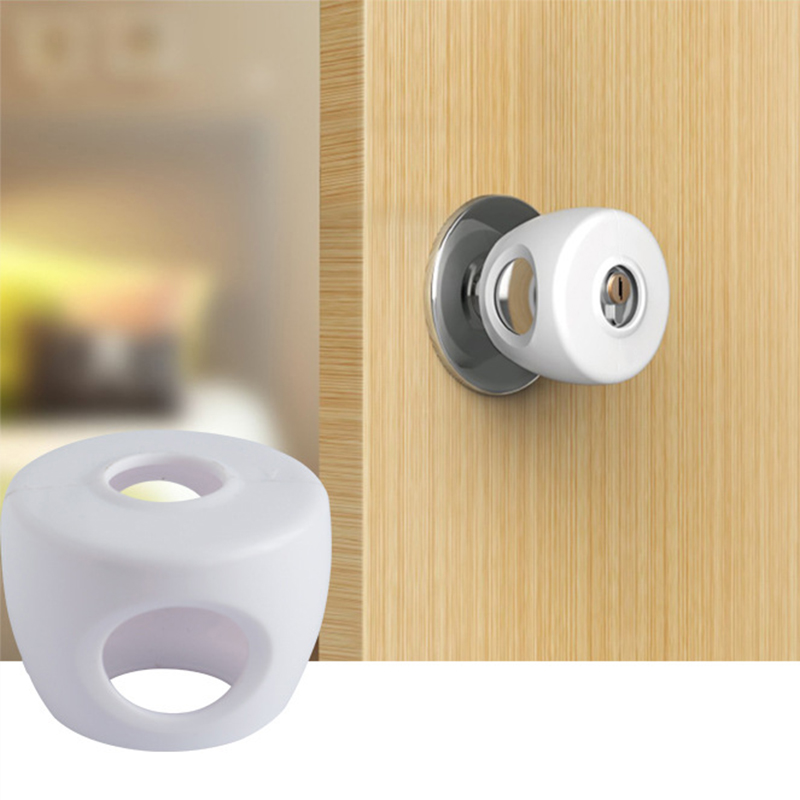 Baby Safety Door Knob Covers Locks 4pcs Pack Child Safety Child Proof Doorknob Lockable Cover Design Child Protection