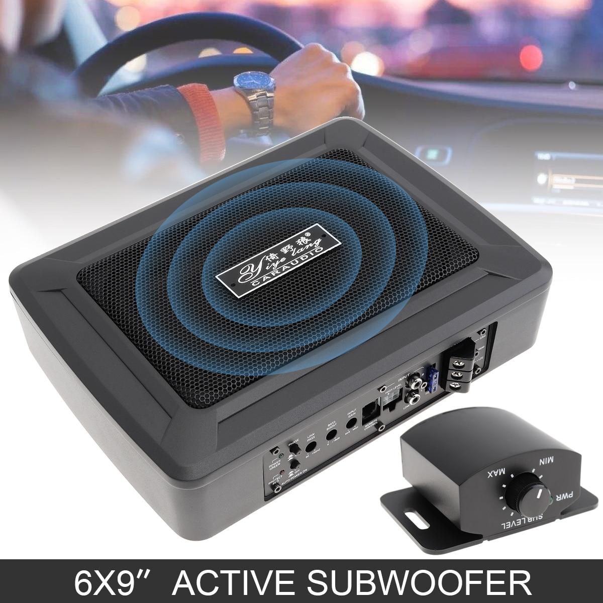 Автомобильный сабвуфер 6X9 дюймов 600 Вт Тонкий под сиденьем мощный автомобильный аудио активный сабвуфер басовый усилитель динамик Громкого...