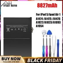PINZHENG 8827mAh Tablet pil için iPad 5 hava 1 yedek Bateria A1474 A1475 A1476 A1822 A1823 A1893 A1954 pil aracı ile