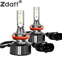 Zdatt H11 LED Headlights Car Running lights H7 H1 H3 9012 Canbus Decoding 6000K 12V Anti-Jamming Bulbs Auto Motorcycle Lamps